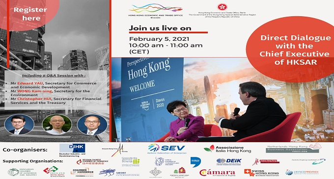 Webinar: Direct Dialogue With The Chief Executive Of HKSAR (5 February 2021)
